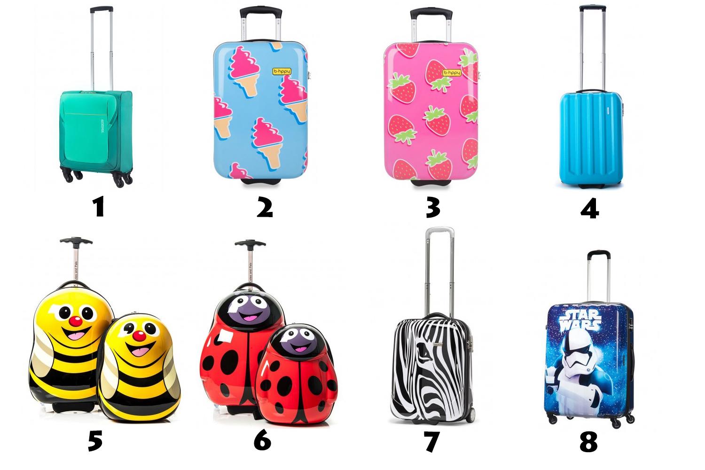 Opvallende handbagage koffers