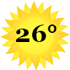 zonnetje 26 graden