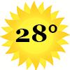 zonnetje 28 graden