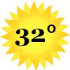 zonnetje 32 graden