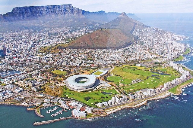 Kaapstad vanuit de lucht